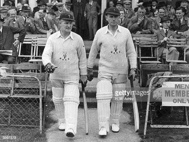 Cricketers David Emrys Davies who played for Glamorgan between 1924 1954 and Arnold Herbert Dyson who played for Glamorgan between 1926 1949 coming...