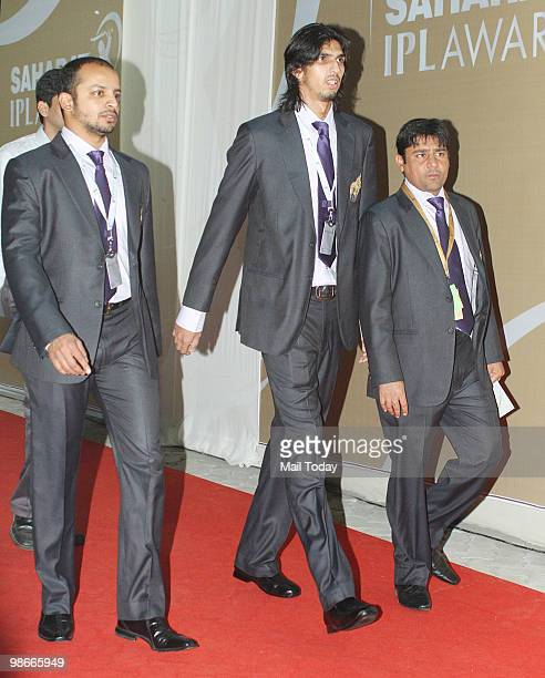 Cricketers Ishant Sharma and Murli Karthik arrive for the IPL Awards night in Mumbai on April 23 2010