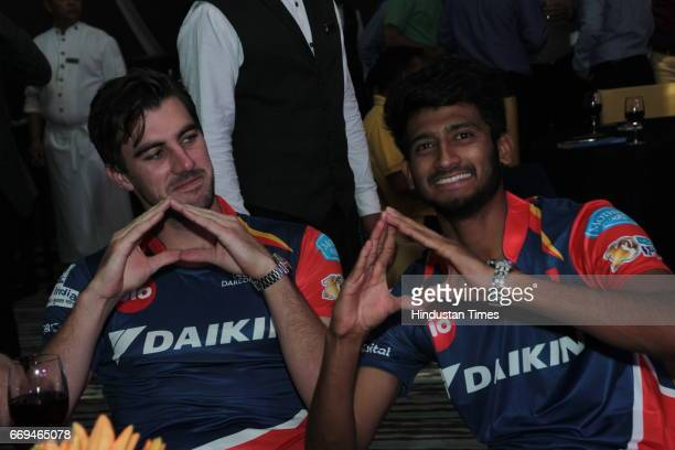 Cricketers Pat Cummins and Syed Khaleel Ahmed at a party hosted by Daikin to celebrate the three years of togetherness with Delhi Daredevils team at...