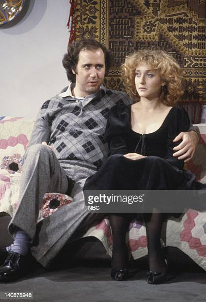 TAXI 'Crime and Punishment' Episode 6 Aired 11/4/82 Pictured Andy Kaufman as Latka Gravas Carol Kane as Simka DahblitzGravas Photo by Paul...