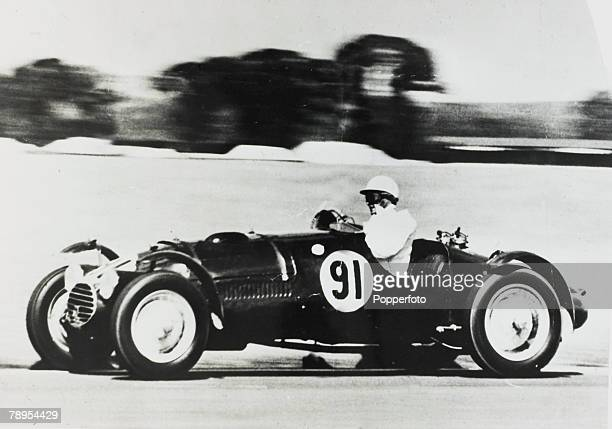 circa 1955 David Blakely in a racing car who was later murdered by Ruth Ellis Ruth Ellis was hanged on 13th July 1955 for the murder of her lover...