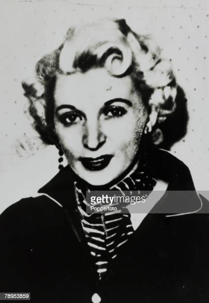 circa 1955 Ruth Ellis portrait Ruth Ellis was hanged on 13th July 1955 for the murder of her lover David Blakelythe 16th and last woman to be...