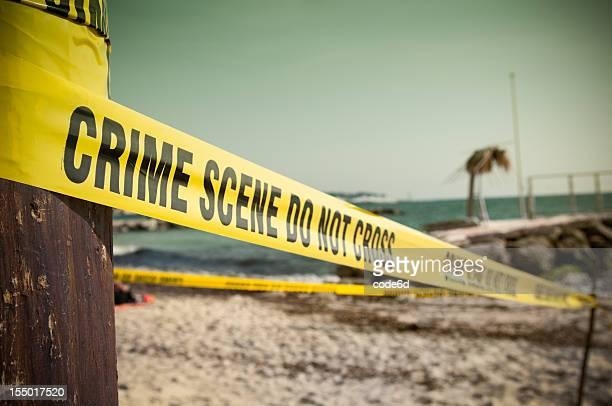 犯罪シーンのビーチ
