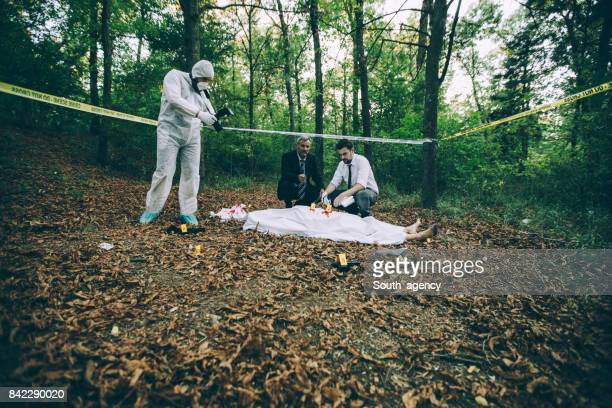 Crime scene at the forest