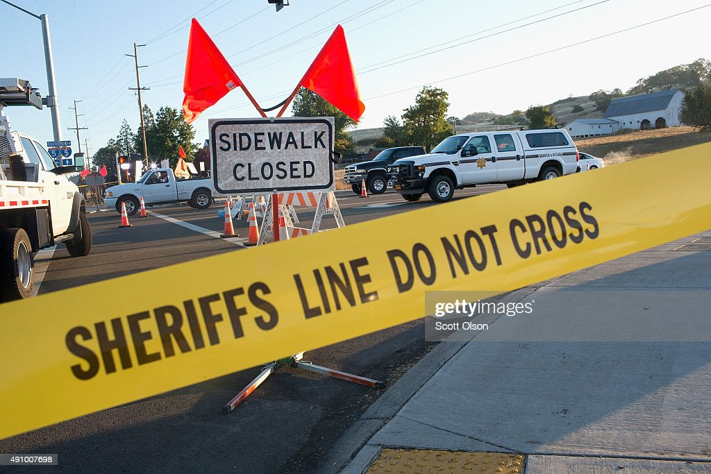 Crime scene tape limits access to Umpqua Community College on October 2 2015 in Roseburg Oregon Yesterday 10 people were killed and seven were...