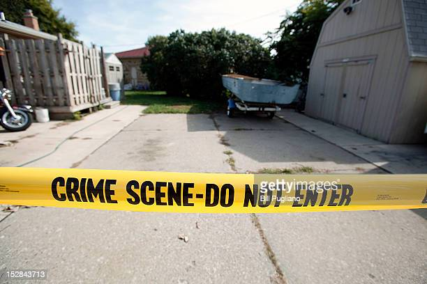 Crime scene tape marks off the site where a tipster reported to police that the body of former Teamster's union boss Jimmy Hoffa may be buried...