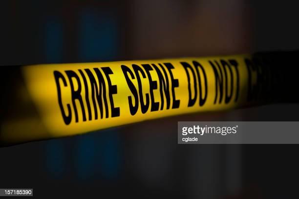 Crime Scene Tape Night