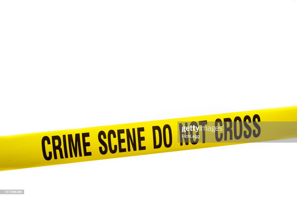 Crime Scene Tape with Clipping Path : Stock Photo