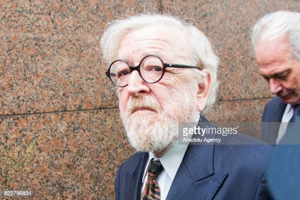 Criminal barrister Robert Richter QC leaves after court hearing at the Melbourne Magistrates Court in Melbourne Australia on July 26 2017 Vaticans...