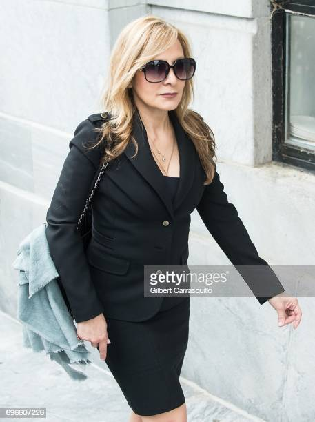 Criminal defense attorney Angela Agrusa arrives at Montgomery County Courthouse as Bill Cosby Trial Continues After Defense Rests on June 16 2017 in...