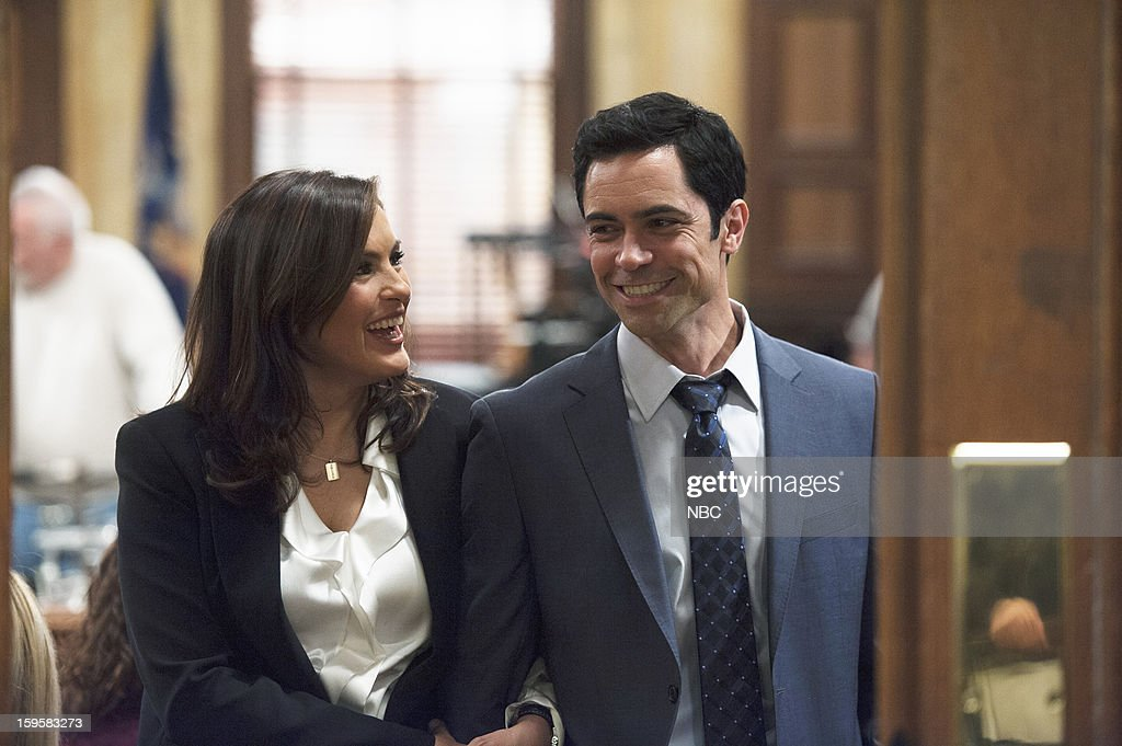 UNIT -- 'Criminal Hatred' Episode 1412 -- Pictured: (l-r) Mariska Hargitay as Detective Olivia Benson, Danny Pino as Detective Nick Amaro --