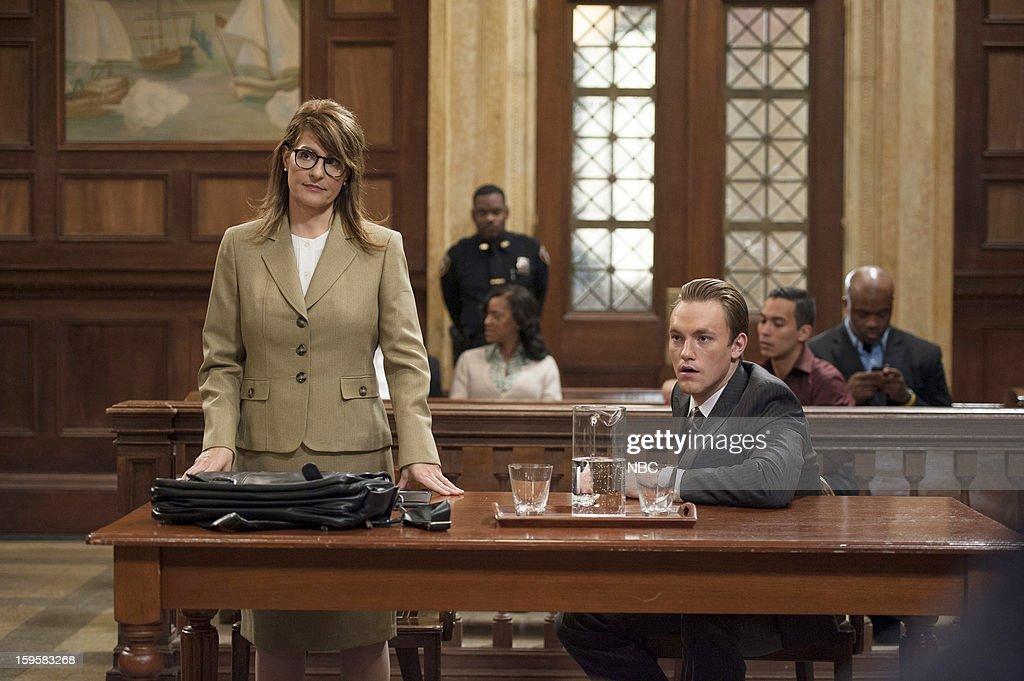 UNIT -- 'Criminal Hatred' Episode 1412 -- Pictured: (l-r) Nia Vardalos as Counselor Minonna Efron, Max Carpenter as Jeremy Jones --