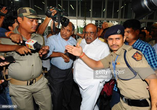 Criminal Investigation Department after arrest Justice CS Karnan Retired of the Calcutta High Court arrive NSC Bose International Airport and go to...