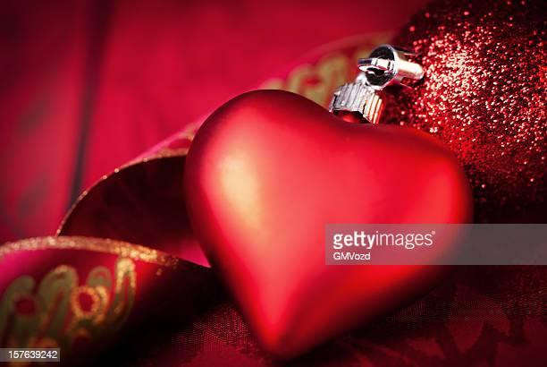 Roten Christmas bauble Herz
