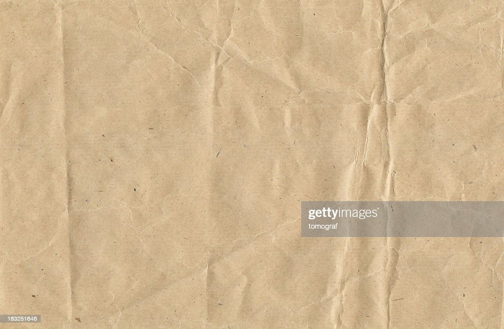 Crinkled brown paper : Stock Photo