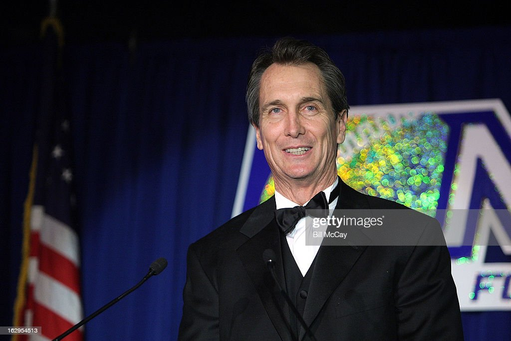 <a gi-track='captionPersonalityLinkClicked' href=/galleries/search?phrase=Cris+Collinsworth&family=editorial&specificpeople=745575 ng-click='$event.stopPropagation()'>Cris Collinsworth</a> winner of the Harrah's Broadcaster Award for Sports Broadcaster of the Year attends the 76th Annual Maxwell Football Club Awards Dinner March 1, 2013 in Atlantic City, New Jersey.