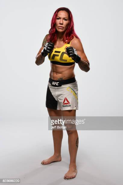 Cris Cyborg of Brazil poses for a portrait during a UFC photo session on July 26 2017 in Cerritos California