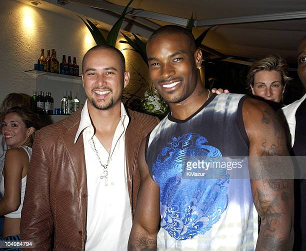 Cris Judd and Tyson Beckford during Usher Celebrates MultiPlatinum Album '8701' which has Sold 5 Million Copies Worldwide at Pier 59 Studios in New...