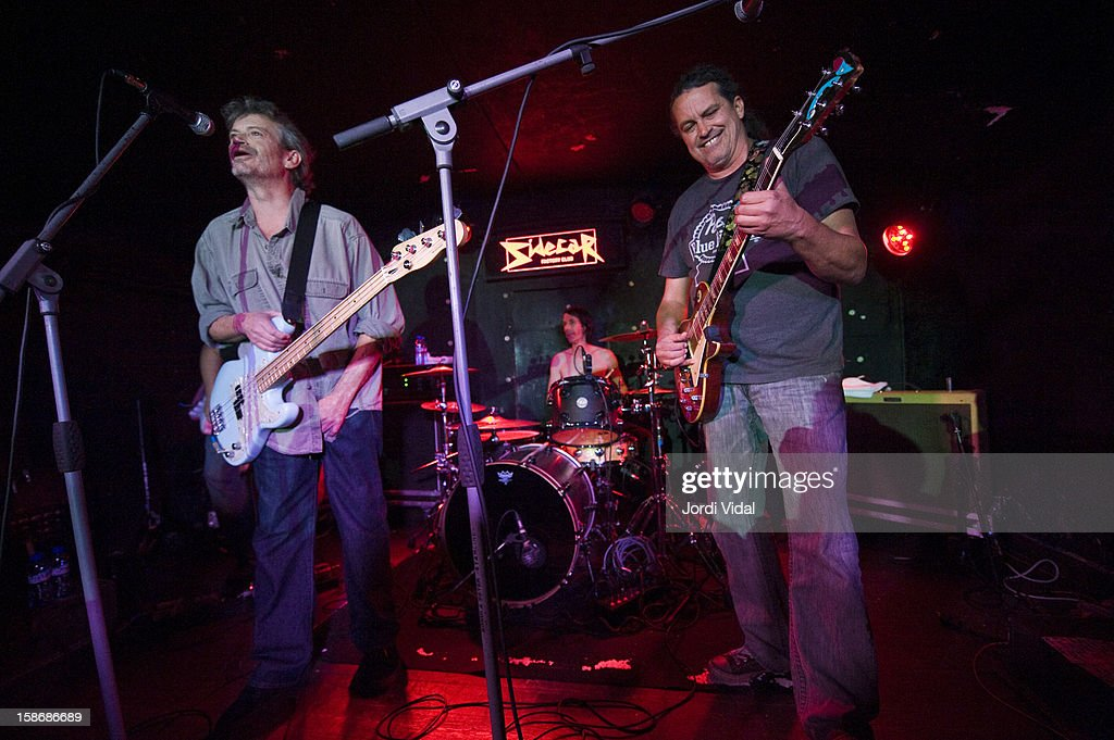 Cris Kirkwood, Shandon Sahm and Curt Kirkwood of Meat Puppets perform at Sidecar on December 23, 2012 in Barcelona, Spain.