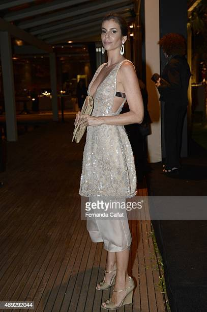 Cris Pitangui attends the 5th Annual amfAR Inspiration Gala at the home of Dinho Diniz on April 10 2015 in Sao Paulo Brazil