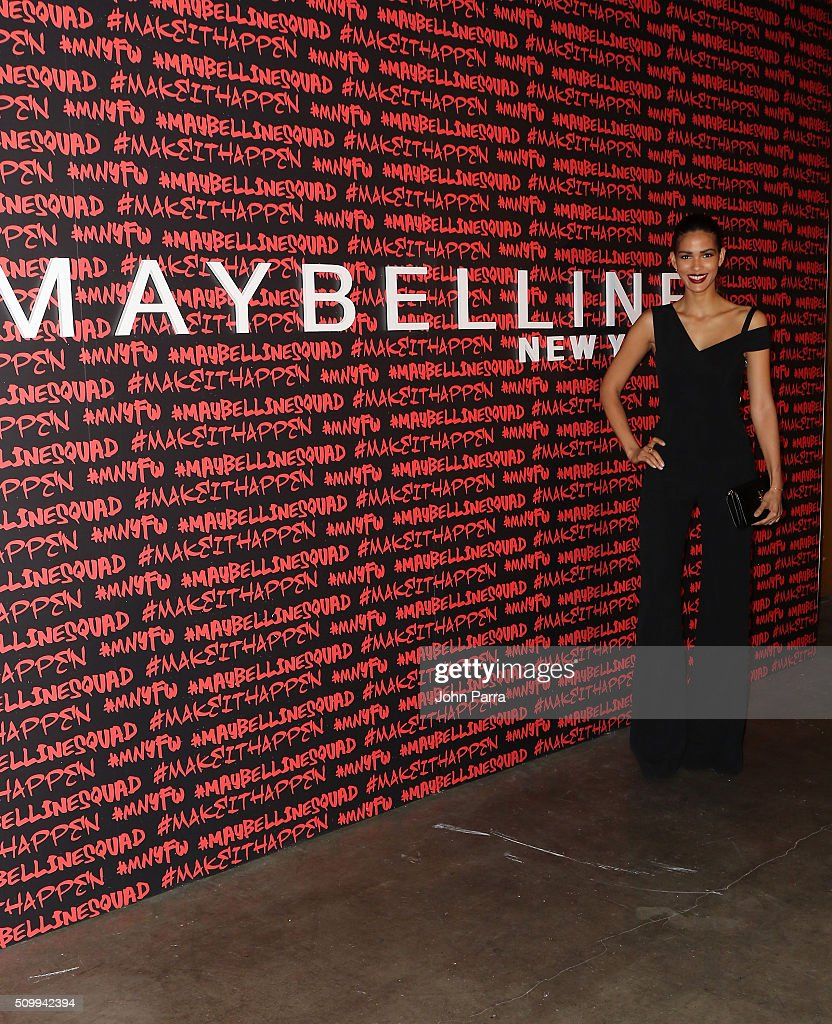 Cris Urena attends Maybelline New York celebrates fashion week at Dream Downtown Hotel on February 12 2016 in New York City