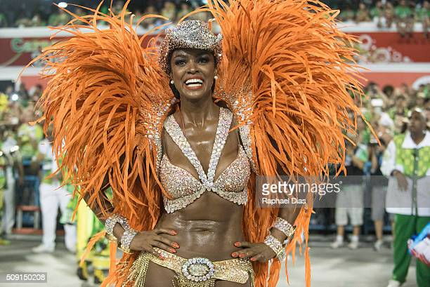 Cris Vianna attends to the Rio Carnival in Sambodromo on February 8 2016 in Rio de Janeiro Brazil Despite the Zika virus epidemic thousands of...