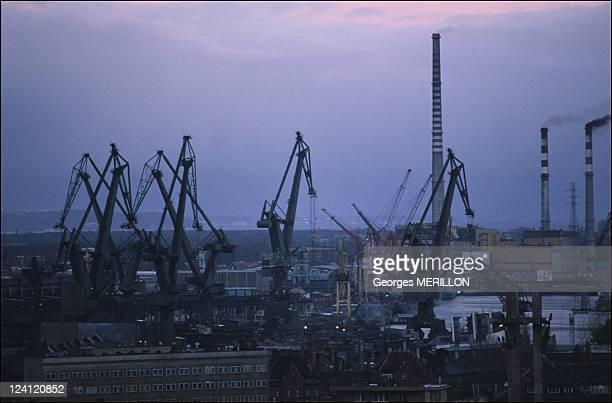 Crisis at Gdansk shipyards In Gdansk Poland On November 02 1988