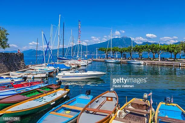 Crisp dock landscape of Torri del Benaco, Lake Garda