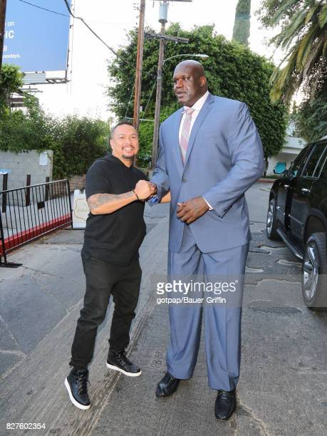 Crispin Alapag and Shaquille O'Neal are seen on August 07 2017 in Los Angeles California