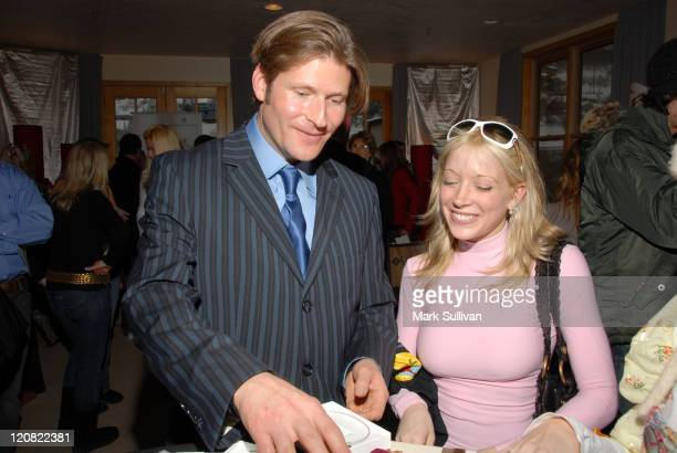 Crispin Glover and Courtney Peldon during 2006 Sundance Film Festival Volkswagen Lounge Produced by Backstage Creations at VW Lounge in Park City...