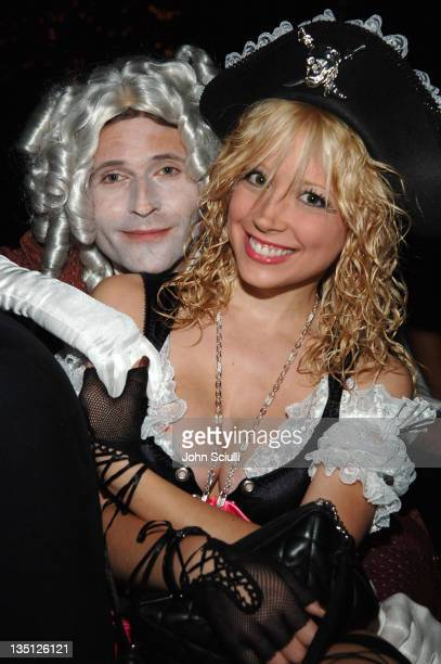 Crispin Glover and Courtney Peldon during igotpokercom Hosts Haylie Duff's 2nd Annual Halloween Party October 30 2005 at Henson Studios in Los...