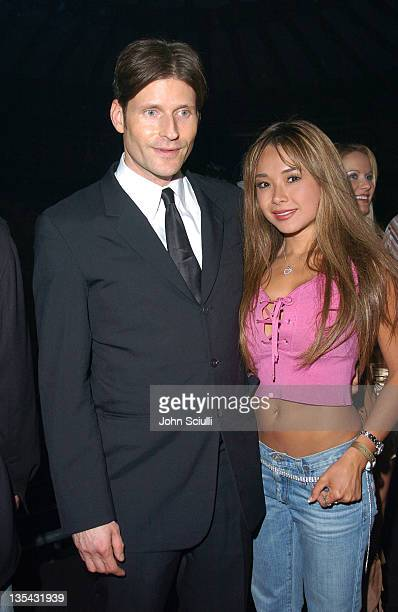 Crispin Glover and guest during Playstation 2 Offers A Passage Into 'The Underworld' Inside at Belasco Theater in Los Angeles California United States