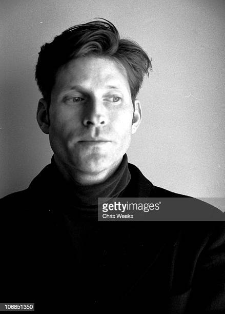 Crispin Glover at Activision St Jude House during 2005 Sundance Film Festival Park City Black White Photography by Chris Weeks in Park City Utah...