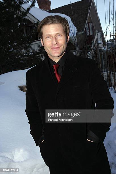 Crispin Glover during 2006 Sundance Film Festival Courtney Peldon and Crispin Glover Outdoor Portraits in Park City Utah United States