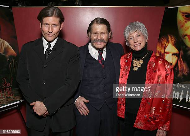 Crispin Hellion Glover Bruce Glover and Betty Glover attend Crispin Hellion Glover's 10th Anniversary Tour for the 'It' Trilogy and the trailer...