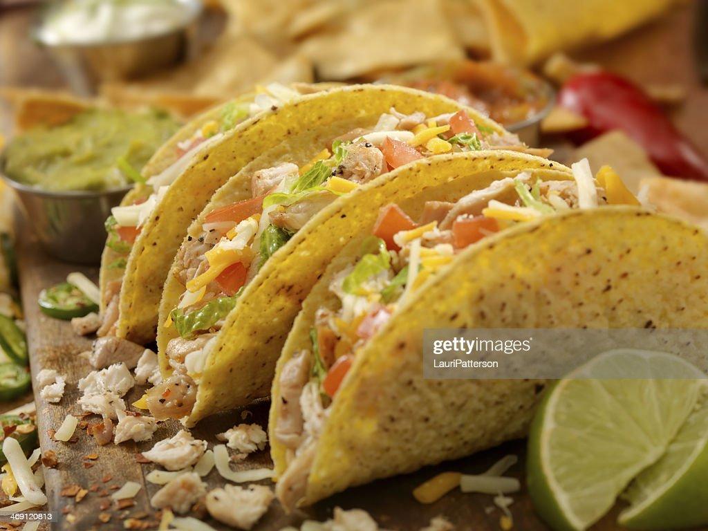 Crispy Chicken Taco : Stock Photo