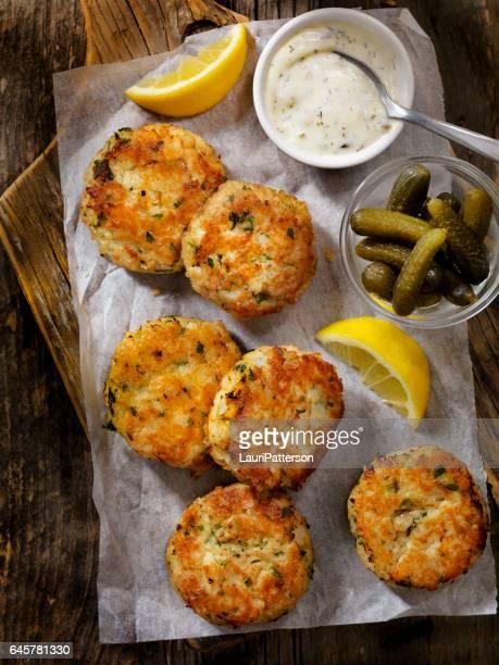 Crispy Golden Fish Cakes