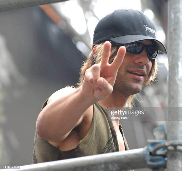 Criss Angel during Criss Angel Cement Block Preview at Times Square in New York City New York United States