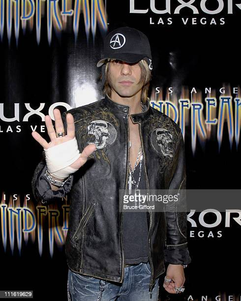 Criss Angel during Criss Angel 'MINDFREAK' Las Vegas Premiere at Luxor Theater Luxor Hotel Casino in Las Vegas Nevada United States