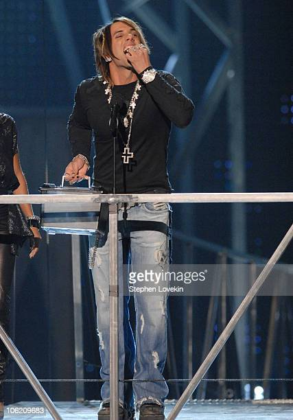 Criss Angel introduces Ozzy Osbourne during 2007 VH1 Rock Honors Show at Mandalay Bay in Las Vegas Nevada United States