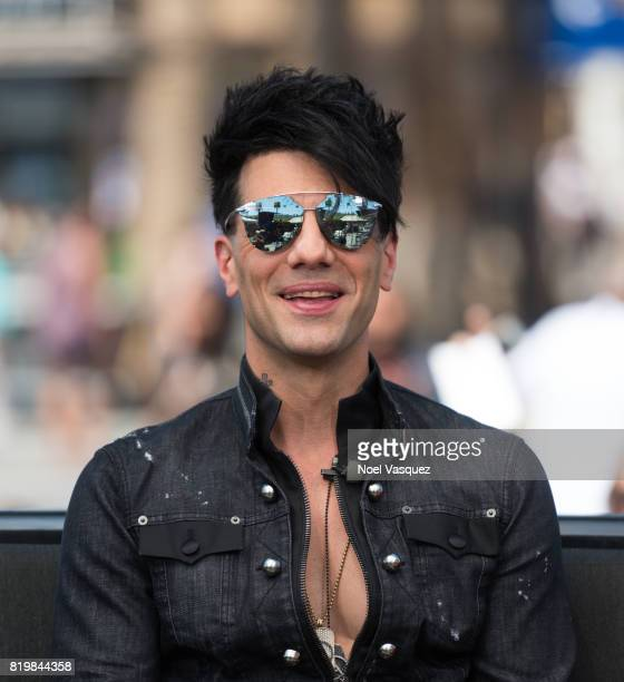 Criss Angel visits 'Extra' at Universal Studios Hollywood on July 20 2017 in Universal City California