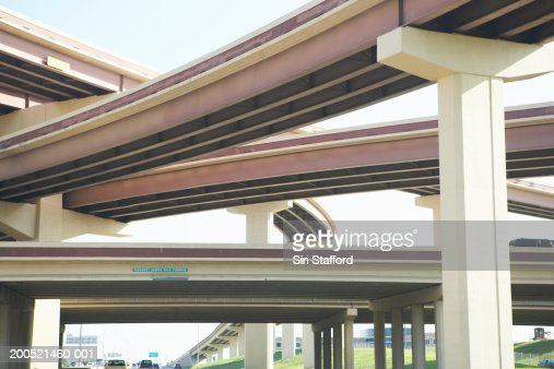 Crisscrossing freeway overpasses