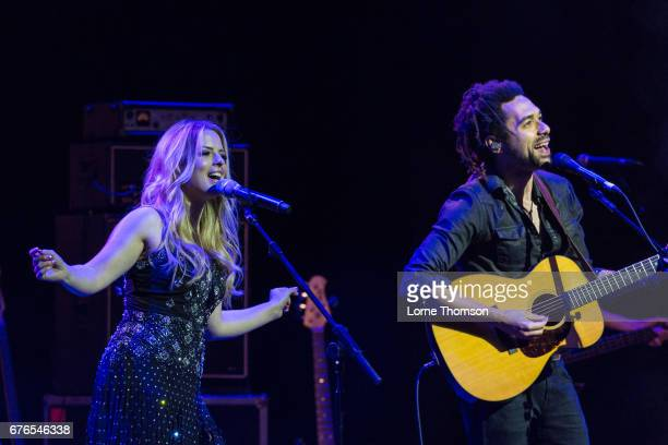Crissie Rhodes and Ben Earle of The Shires perform at London Palladium on May 2 2017 in London England