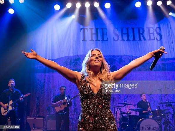 Crissie Rhodes of the Shires performs at O2 Shepherd's Bush Empire on December 10 2016 in London England
