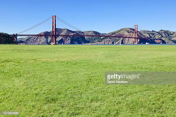 Crissy Field with Golden Gate Bridge.