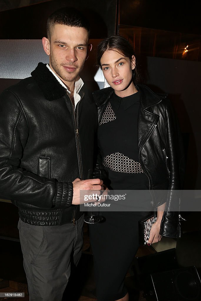 Crista Cober and guest attend Swarovski 'Paris Haute Couture' Exhibition as part of Paris Fashion Week on February 28, 2013 in Paris, France.