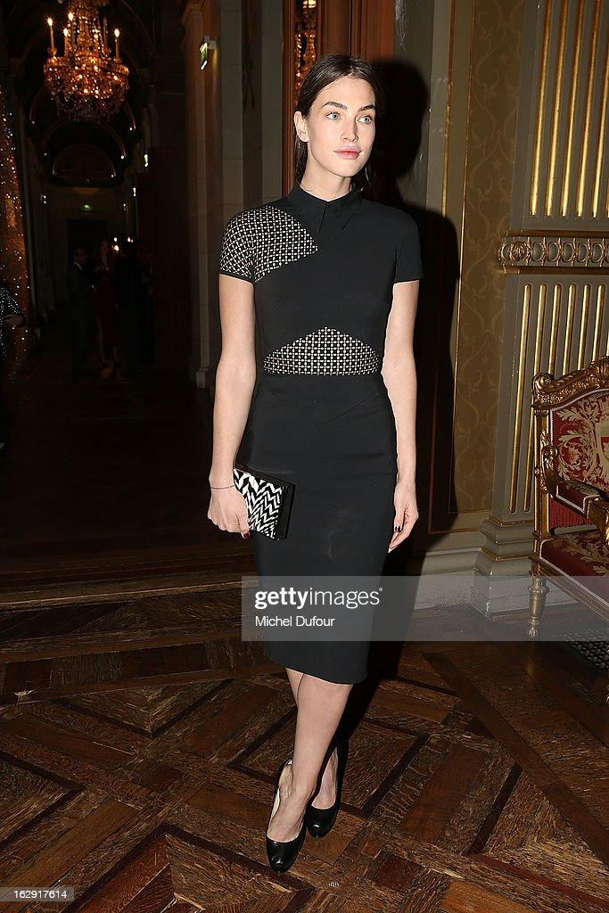Crista Cober attends Swarovski 'Paris Haute Couture' Exhibition as part of Paris Fashion Week on February 28, 2013 in Paris, France.