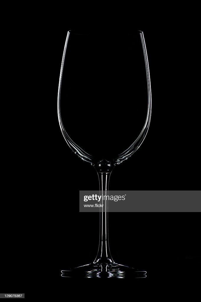 Cristal glass against black background