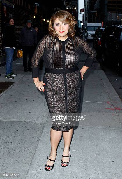Cristela Alonzo arrives for the 'Late Show with David Letterman' at Ed Sullivan Theater on December 8 2014 in New York City