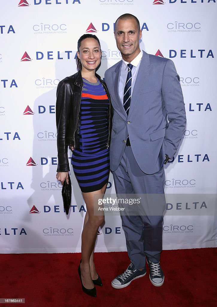 Cristen Barker and Nigel Barker attend as Delta Air Lines celebrate the opening night of T4X, a pop up experience showcasing distinctive features of the airline's newly transformed international hub at JFK's Terminal 4 on May 1, 2013 in New York City.
